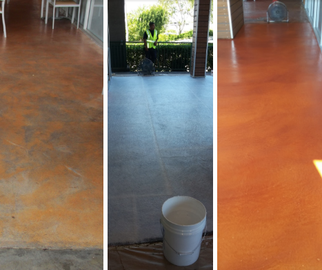 before and after commercial deck