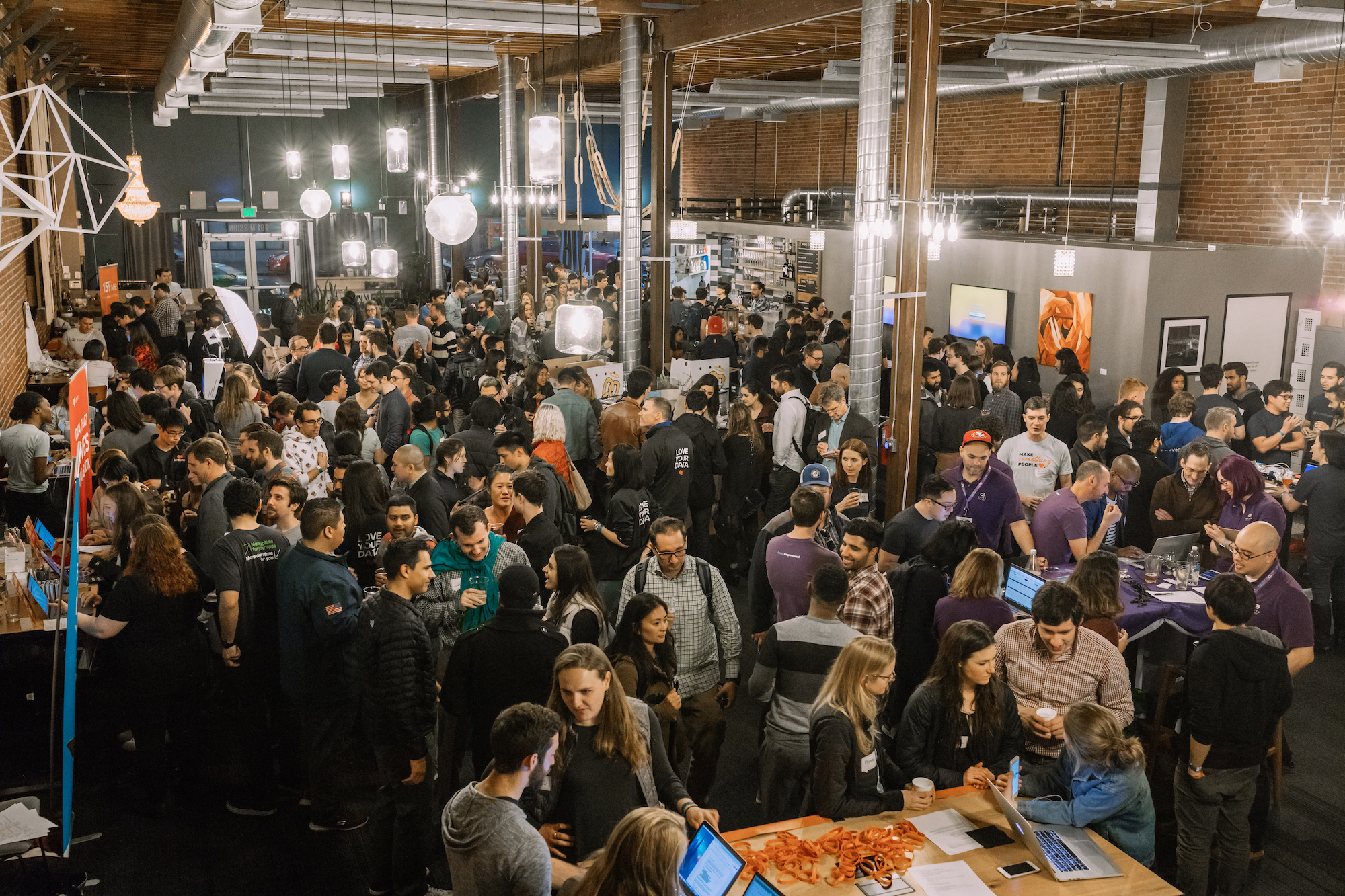 The crowd at Drunk User Testing San Francisco
