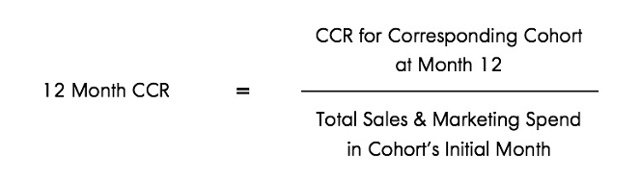 The Cumulative Cohort Revenue (CCR) equation