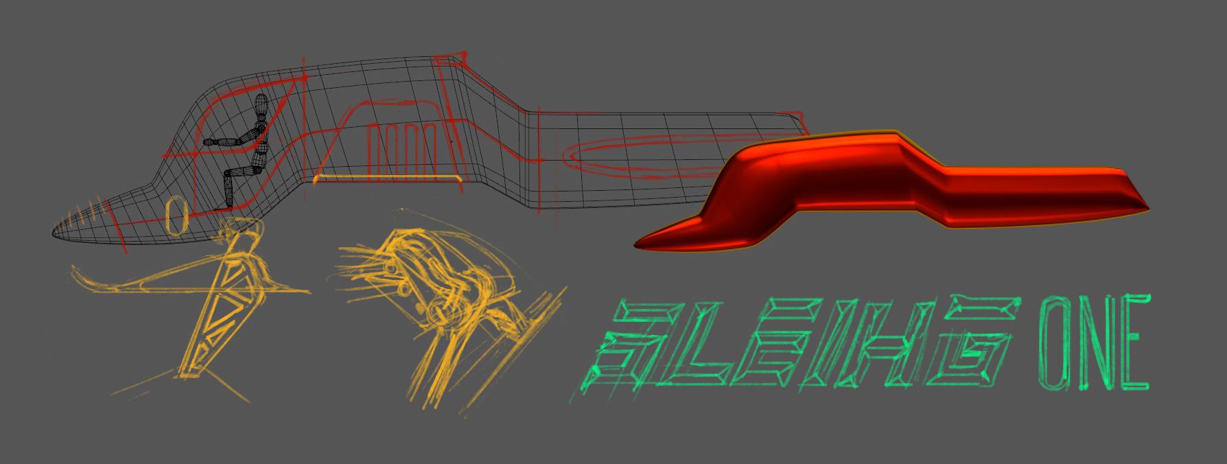 Sleigh One Sketch
