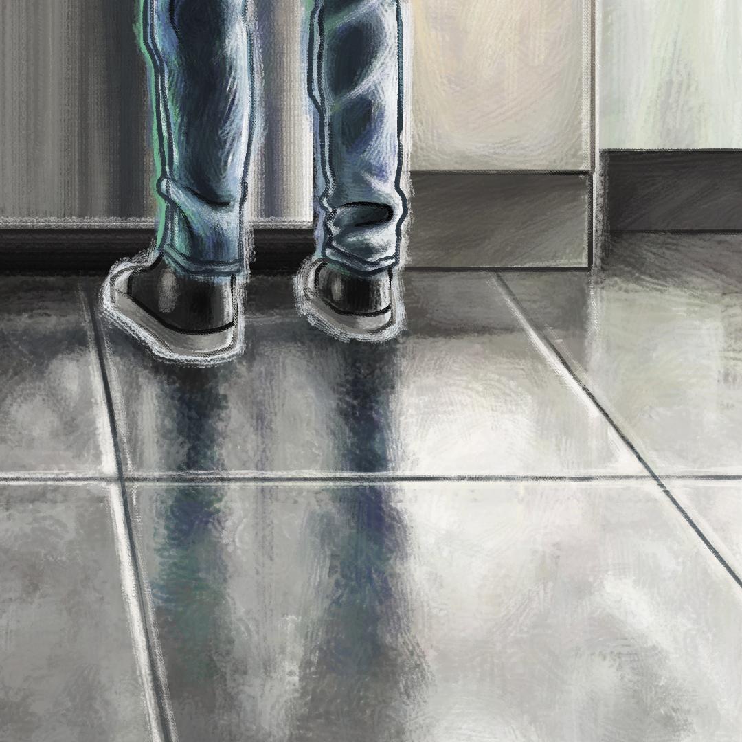 Close Up Floor, Feet