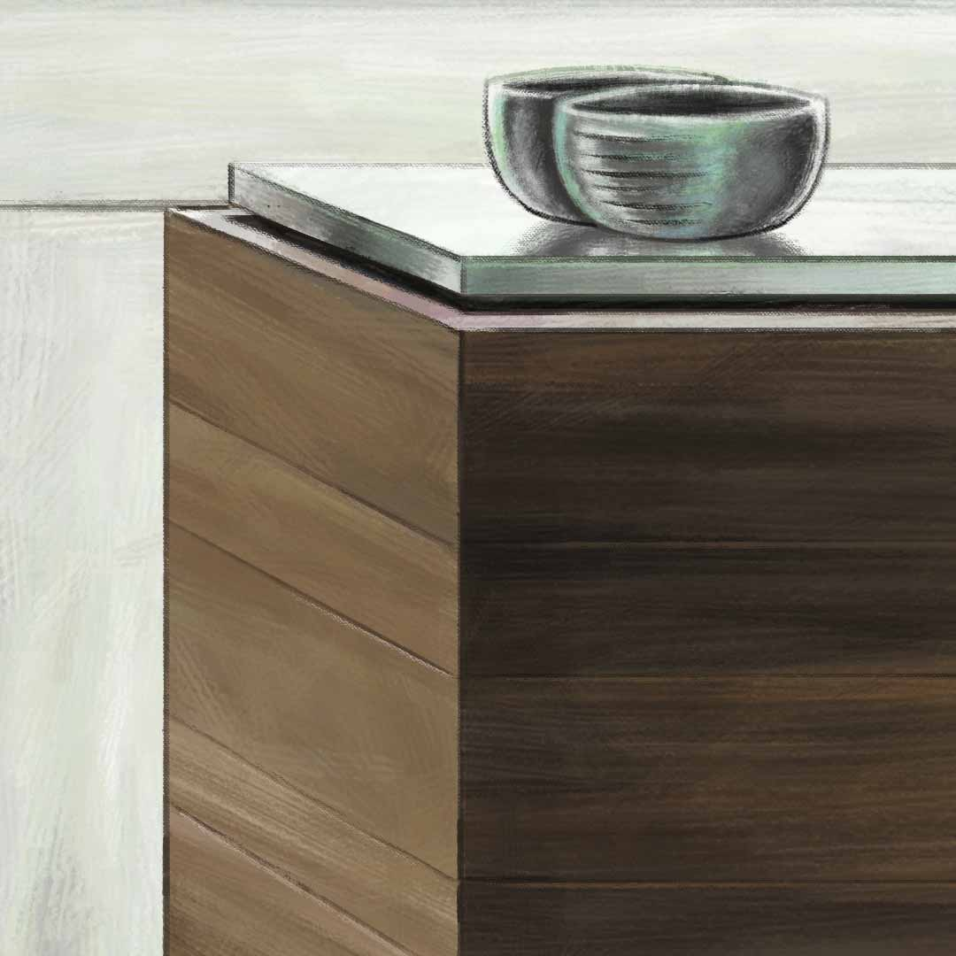Close Up Kitchen Table