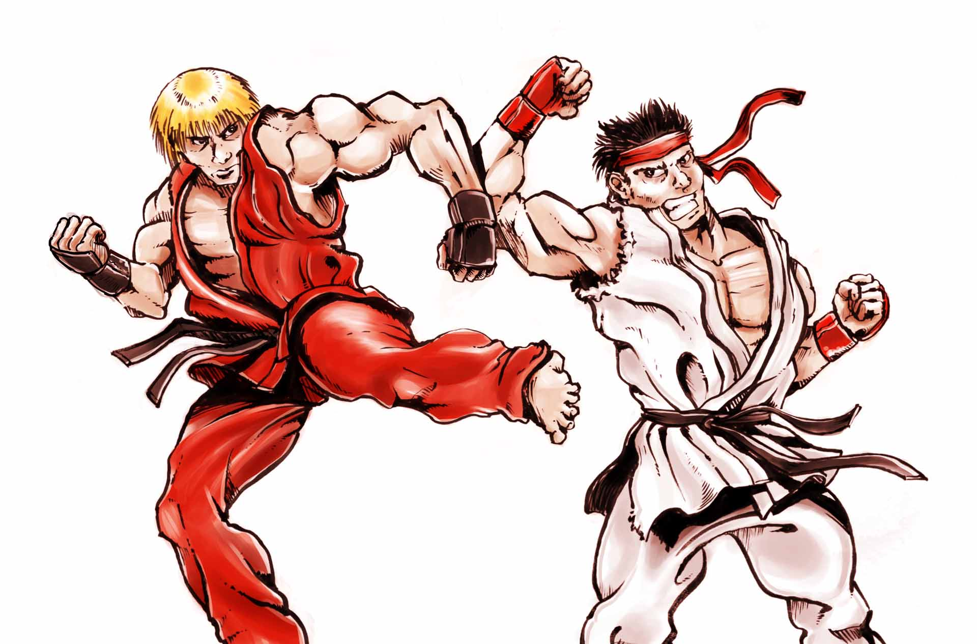Final Ken Vs Ryu Street Fighter Illustration