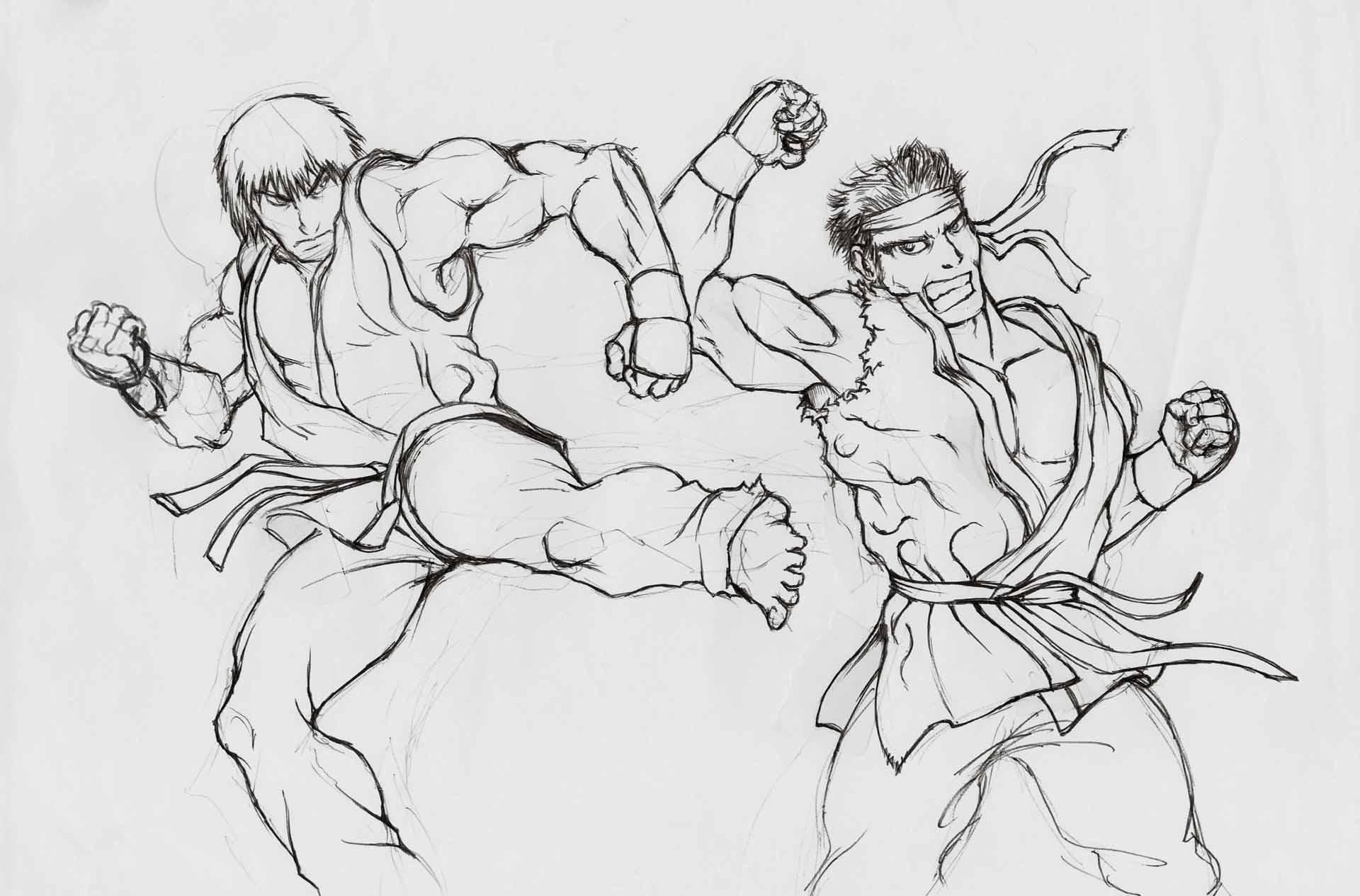 Ken Vs Ryu Sketch