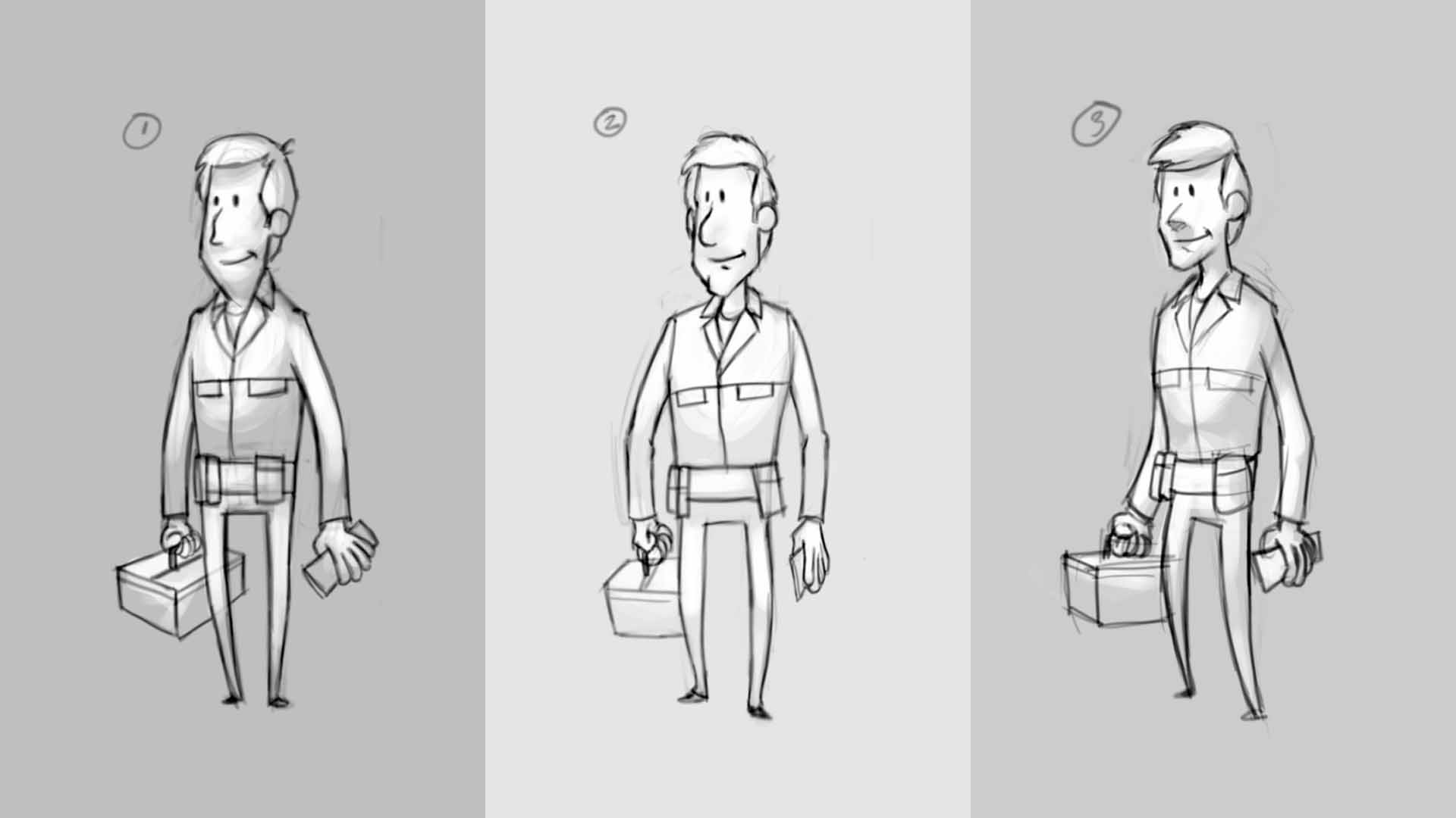 Tradesman Character Design Stage 1