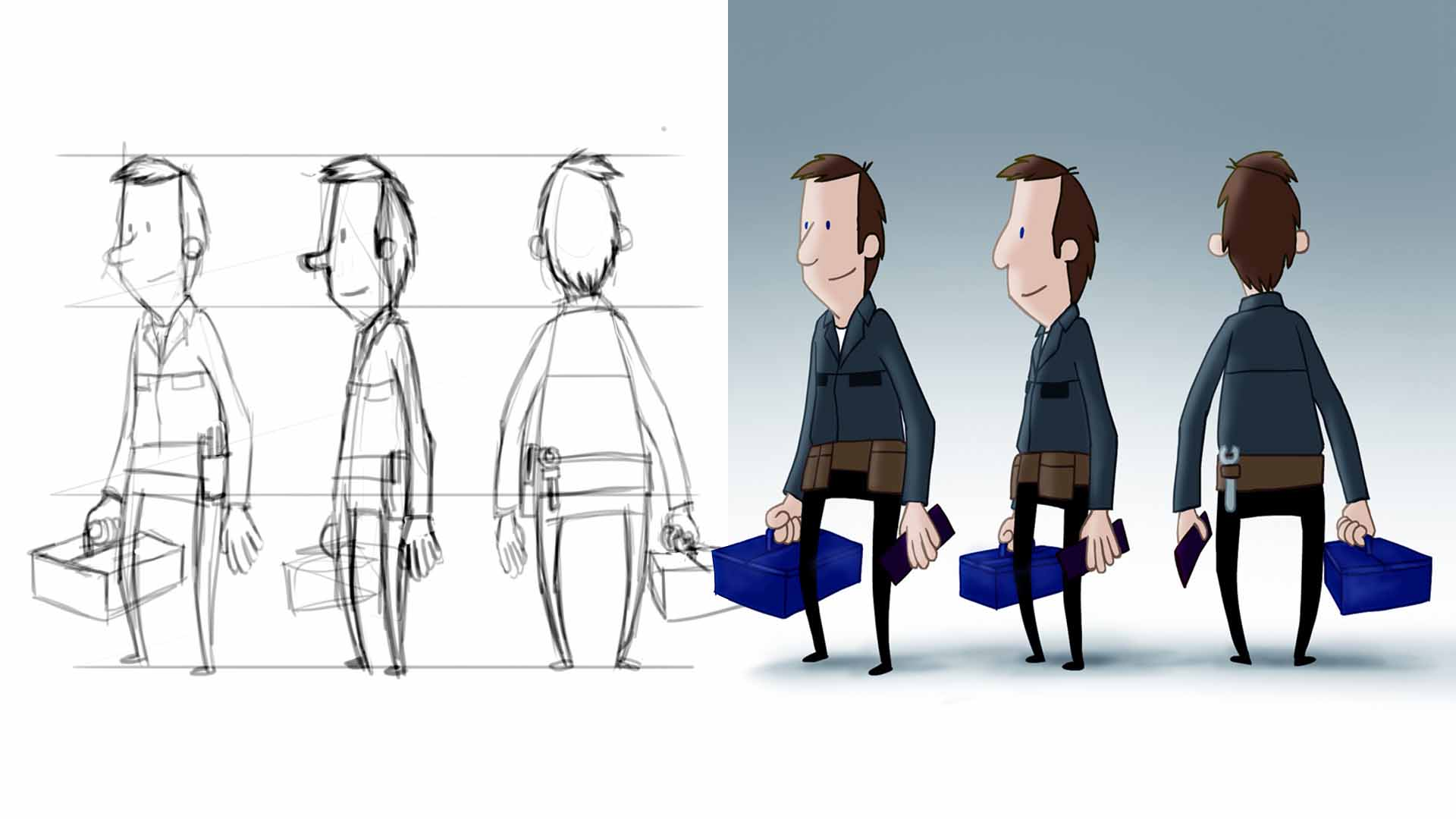 Tradesman Character Design Stage 2