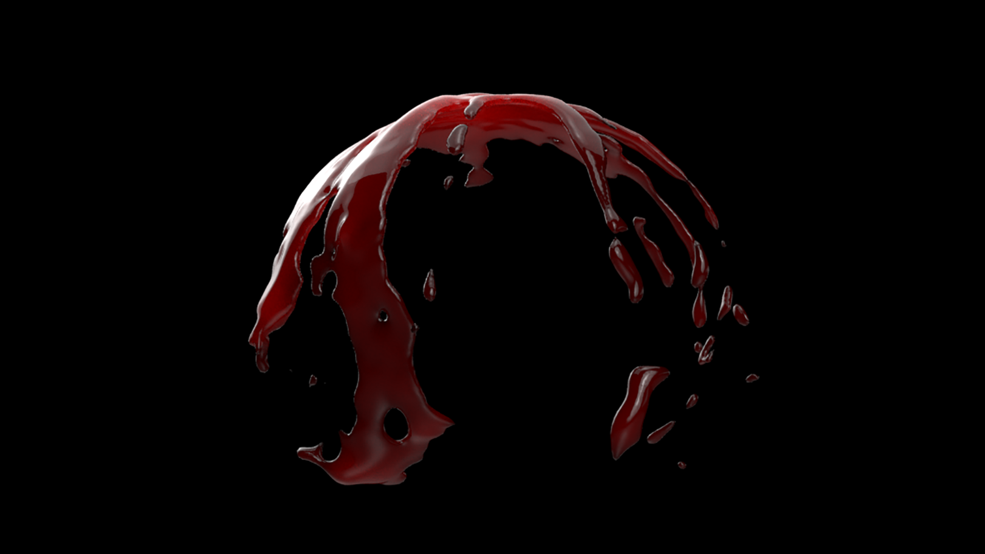 Blood Shader Render Close Up