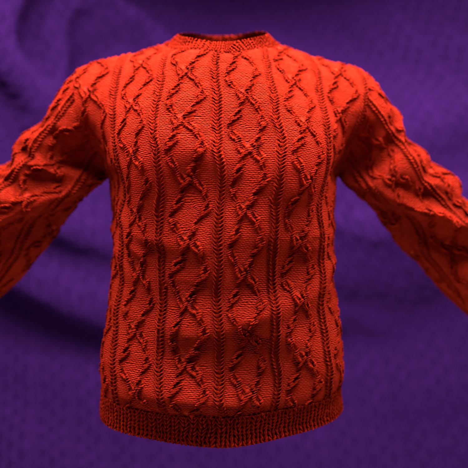Knitted Christmas Jumper Render