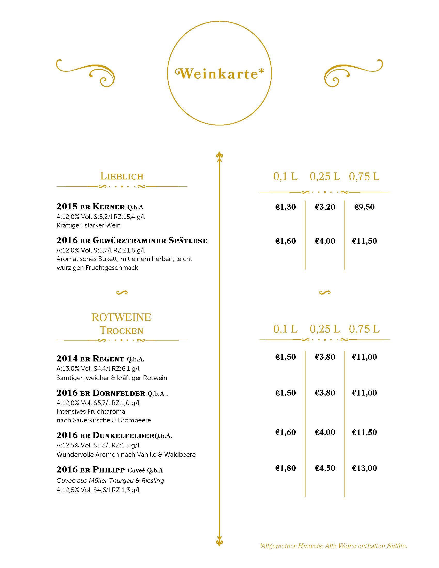 Deckblatt - Speisen und Getränke