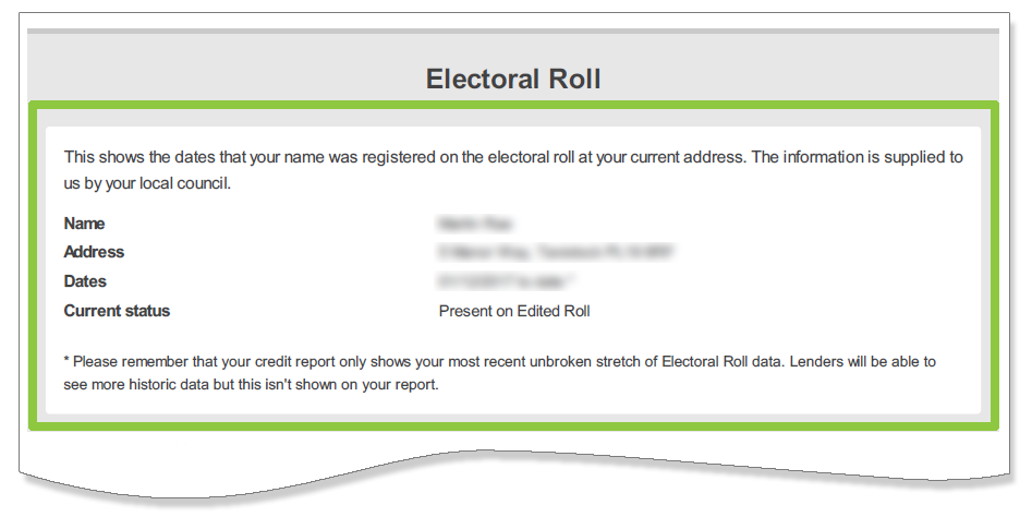 Are you on the electoral register?