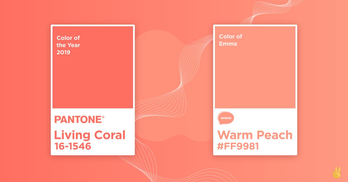 """""""Living Coral�, la couleur Pantone de l'année en 2019 🌟"""