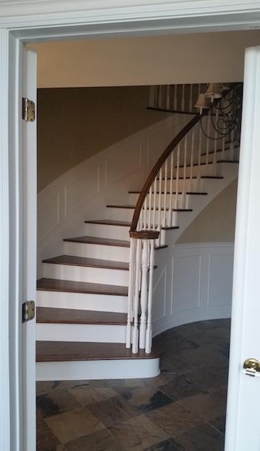 peinture intérieur hall d'escalier