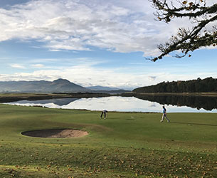 Photo of the golf course at The Carnegie Links at Skibo Castle