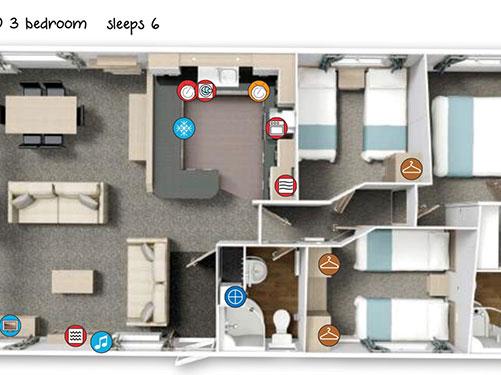 Photo of the floor plan of the Luxury Lodge