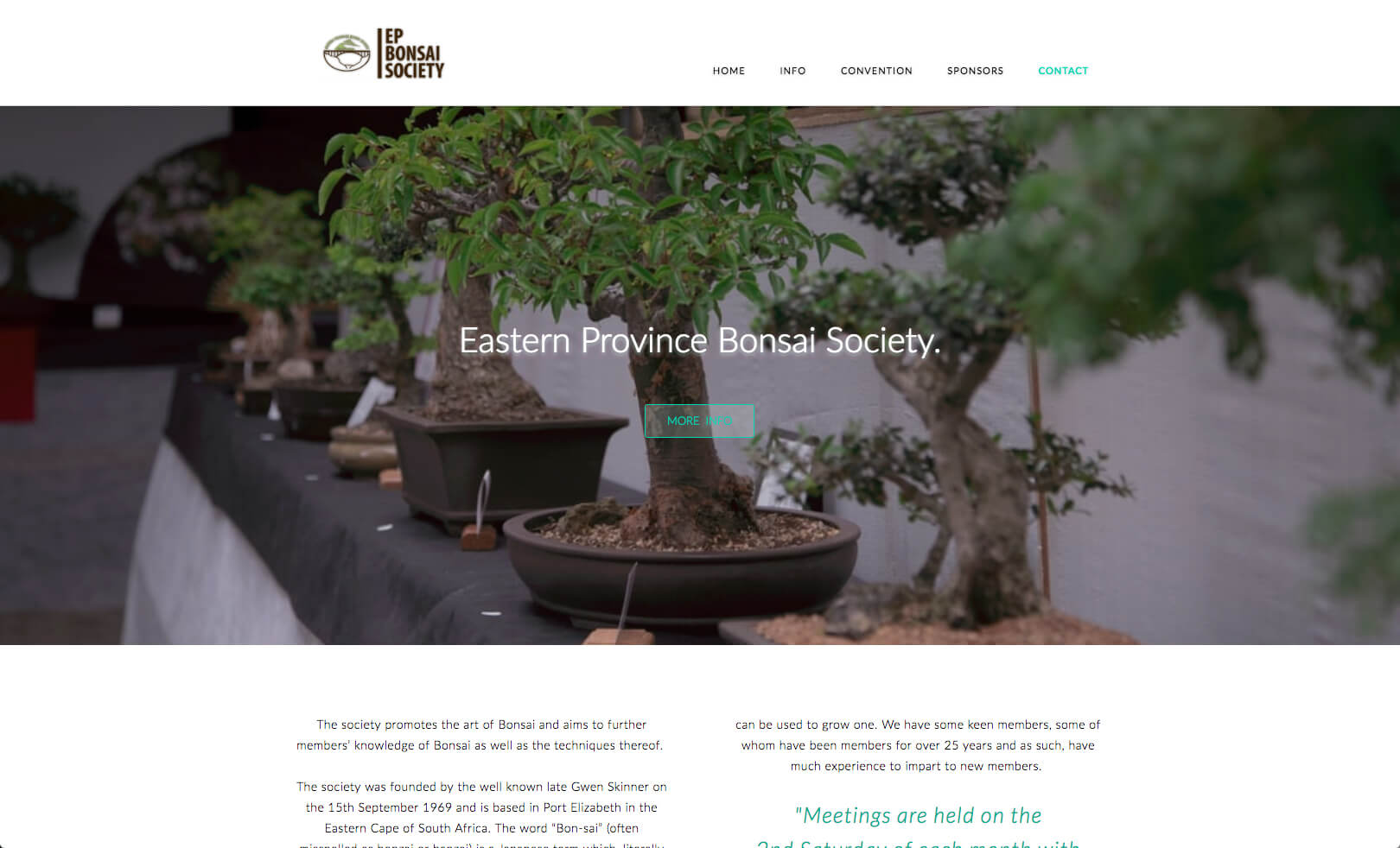 Website layout and content design plus Web Photography for a Bonsai Society based in Port Elizabeth, South Africa.