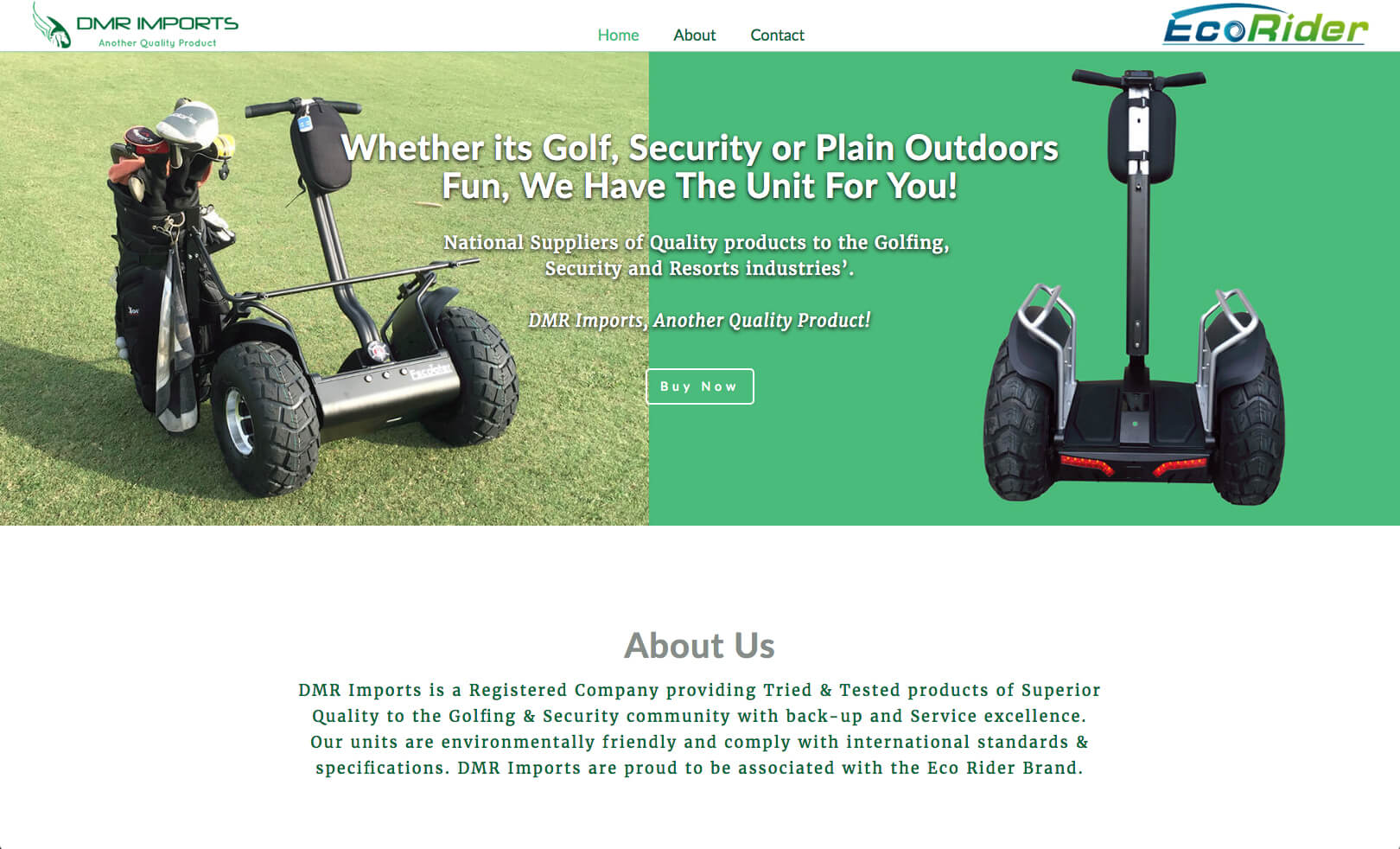 Webpage build and design for a national supplier of quality products to the Golfing, Security and Resorts industries.