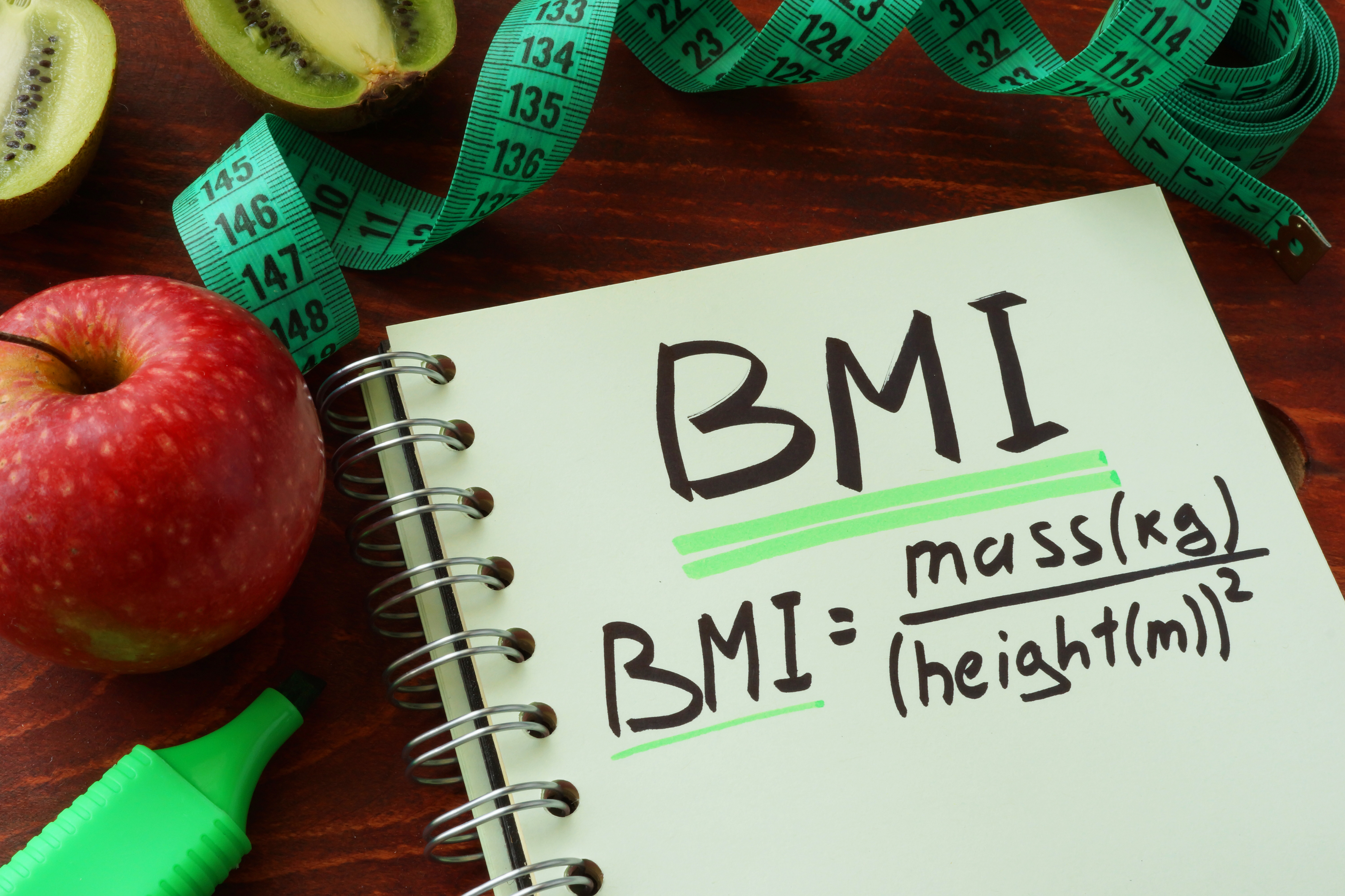 BMI reading weight mass