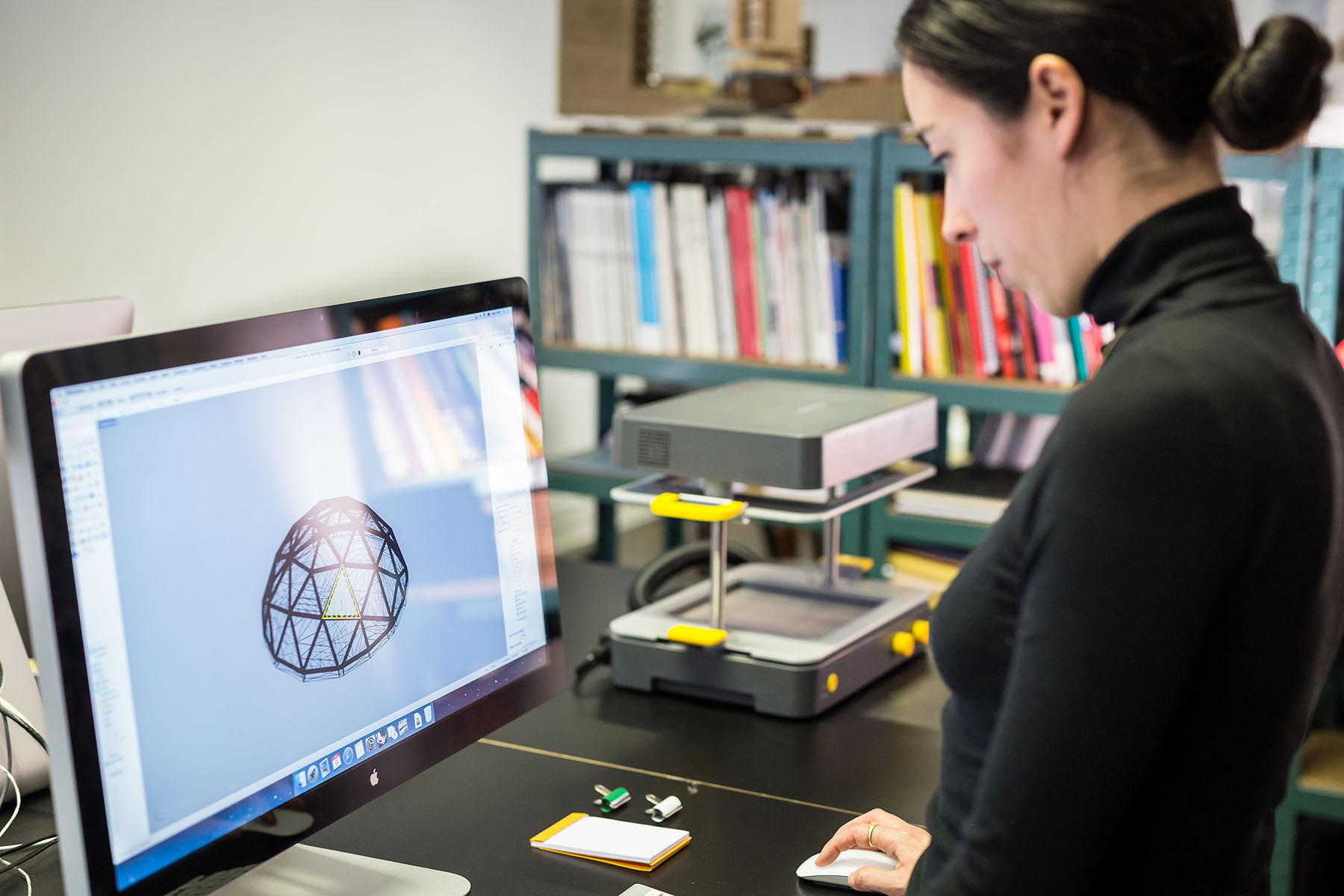 Building architecture models using 3D printing and vacuum forming machine