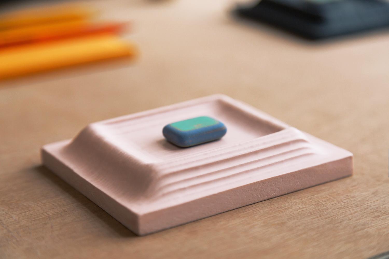 laser cut shapes made into custom molds for Jesmonite using the Mayku FormBox