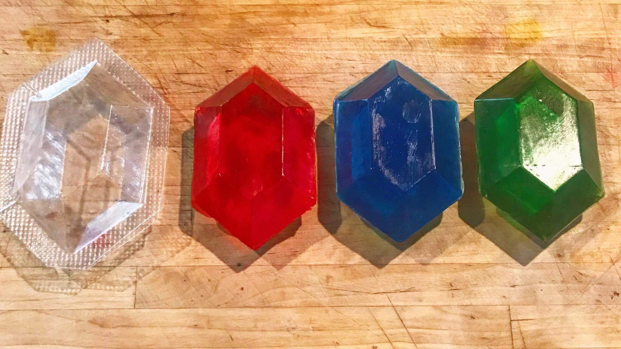 Zelda Gemstone Ruppees Soap Molds Custom Made with Vacuum Forming