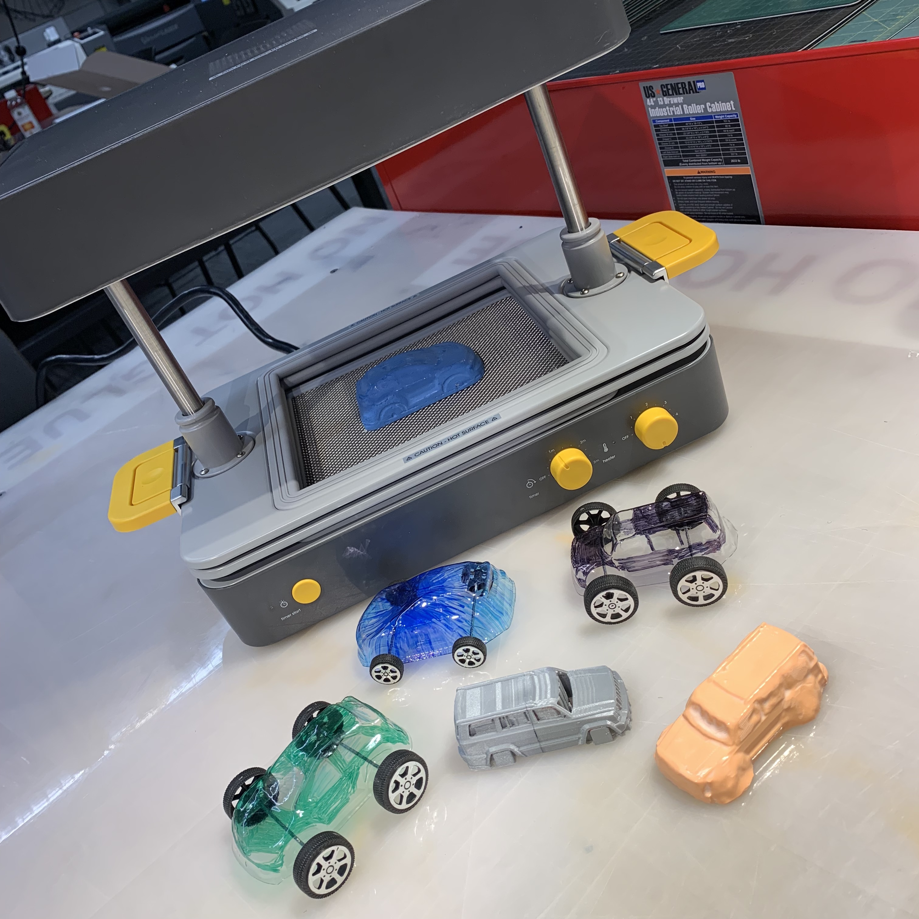 Resin Car Prototypes Designed with Desktop Vacuum Former, the FormBox