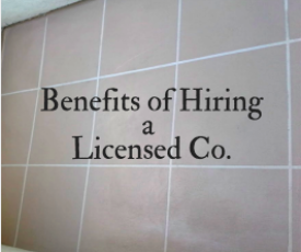 Why you should do business with a company that's licensed