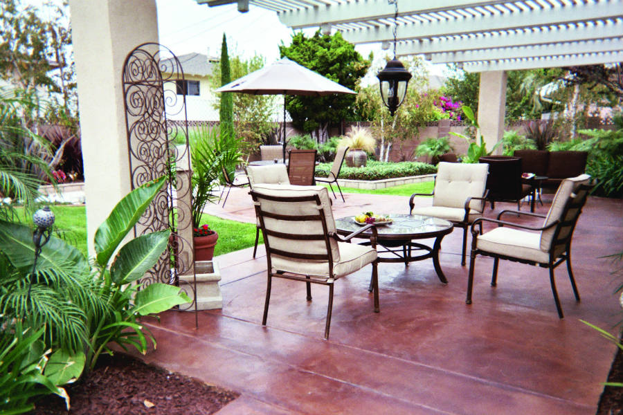 outdoor deck with patio chairs