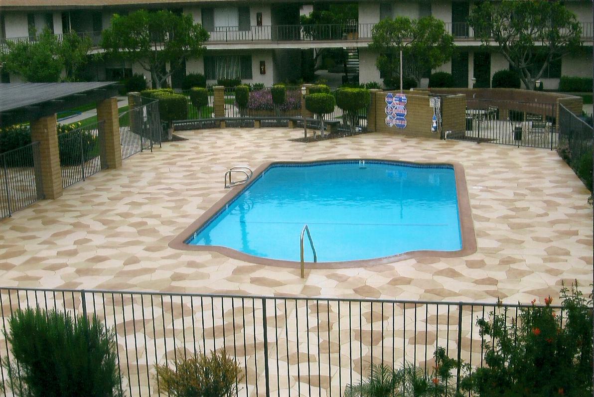 stamped pool