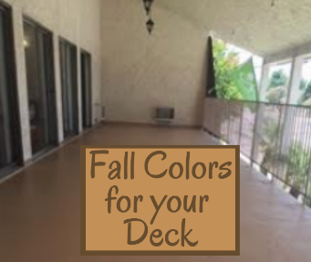 Adding Fall Colors to your Deck