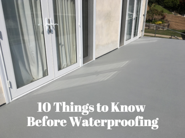 10 Things you Need to Know Before Waterproofing