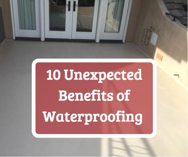 waterproofing benefits