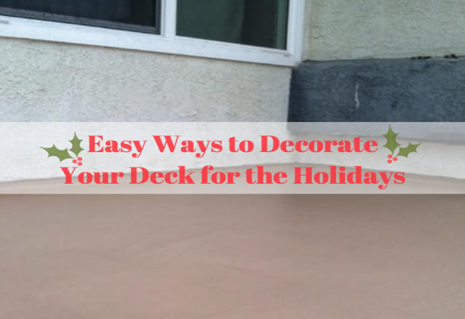 holiday deck decor