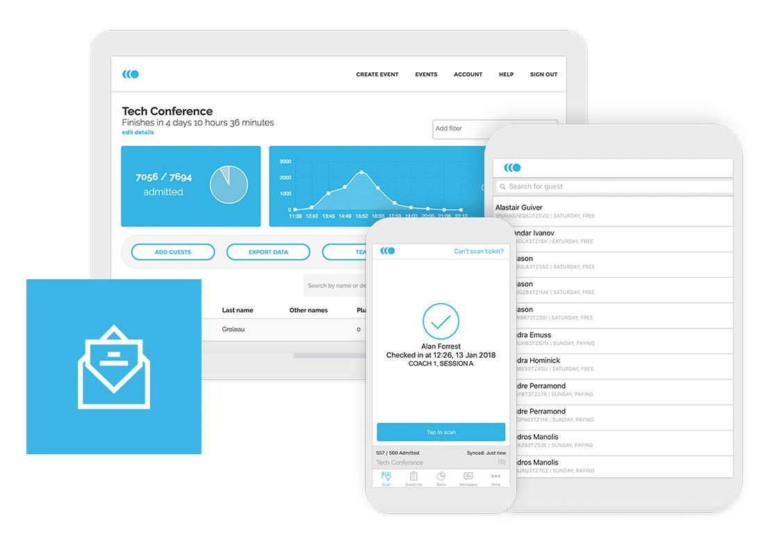 Qflow invites, checkin + guest lists