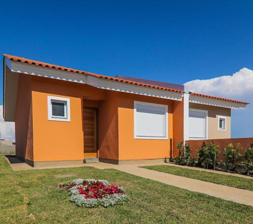Fachada das casas do Residencial Centro Novo