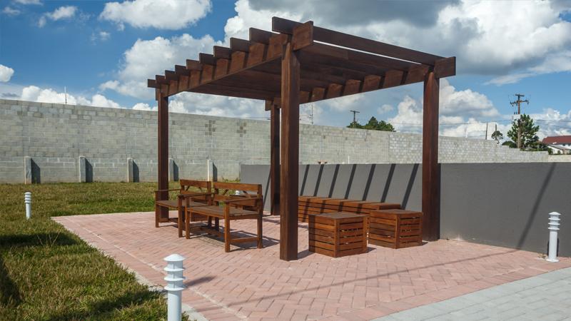 Área comum de lazer do Residencial Acqua Park 1 em Araucária