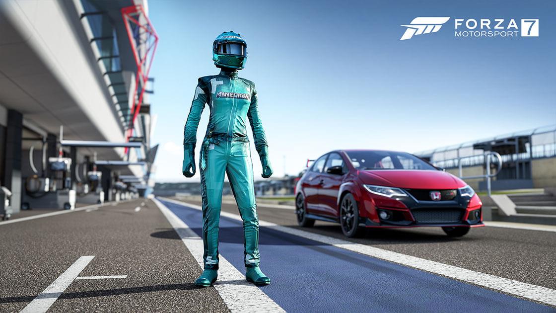 Unlock Minecraft Driver Gear Suits in Forza Motorsport 7