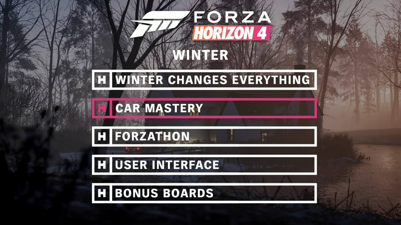 Winter Strikes Britain With Snow and Ice in Forza Horizon