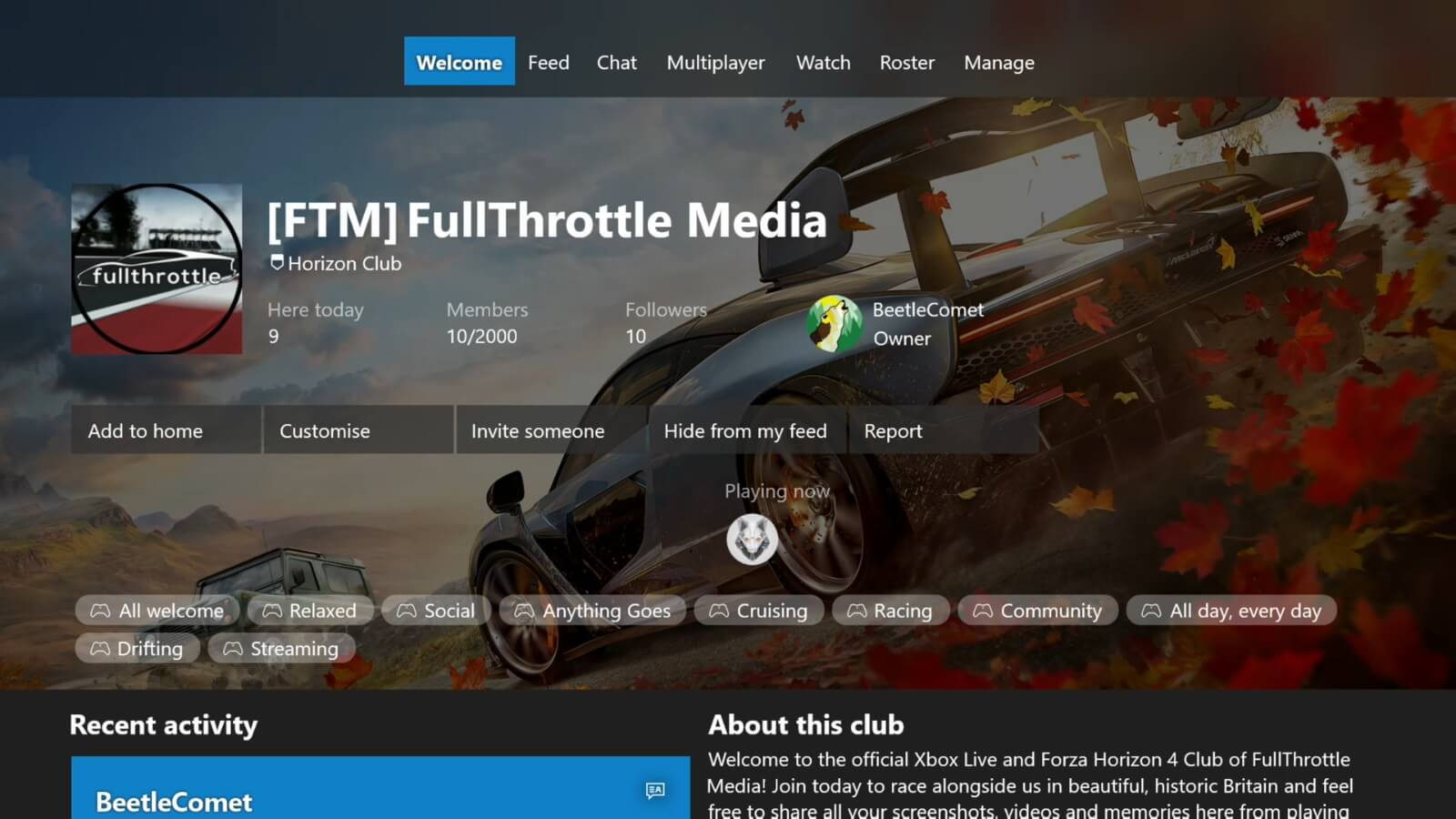 How to Join Our Official Forza Horizon 4 Club – FullThrottle Media