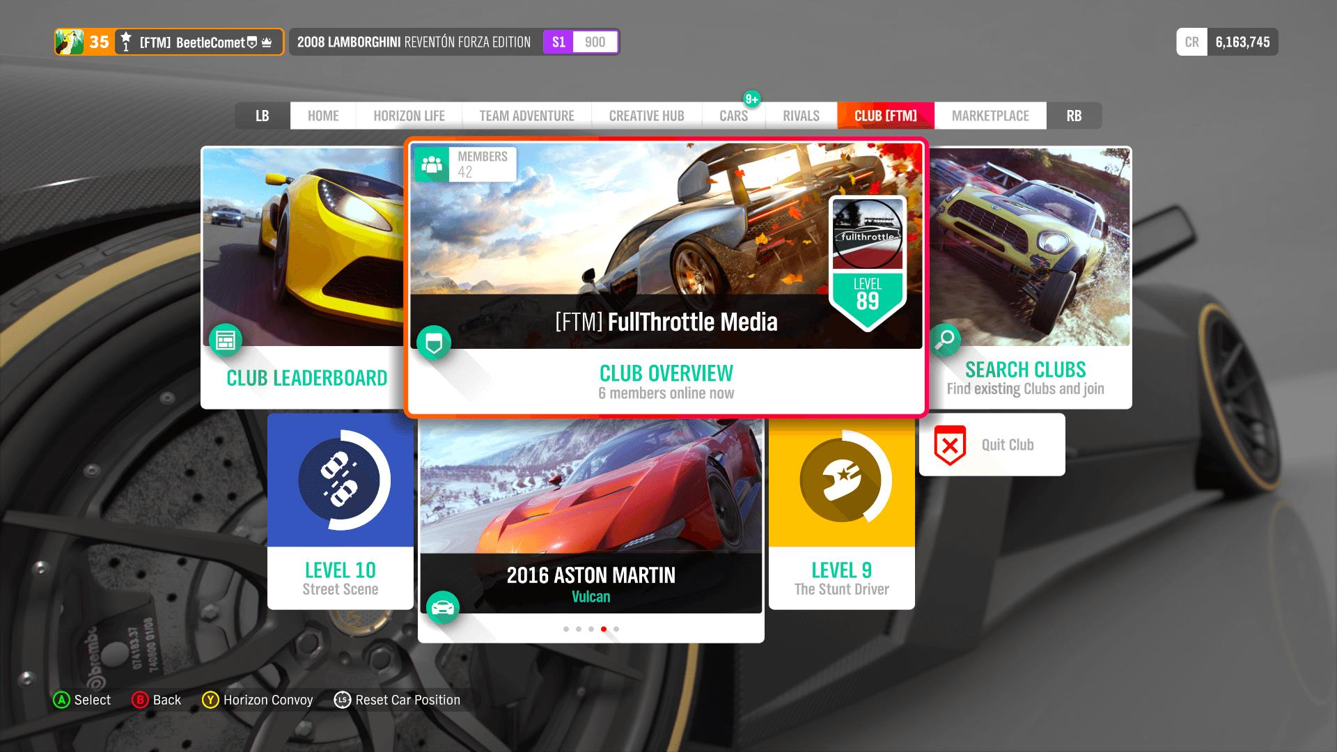 Forza Horizon 4 In-Game Club Leaderboards Reset