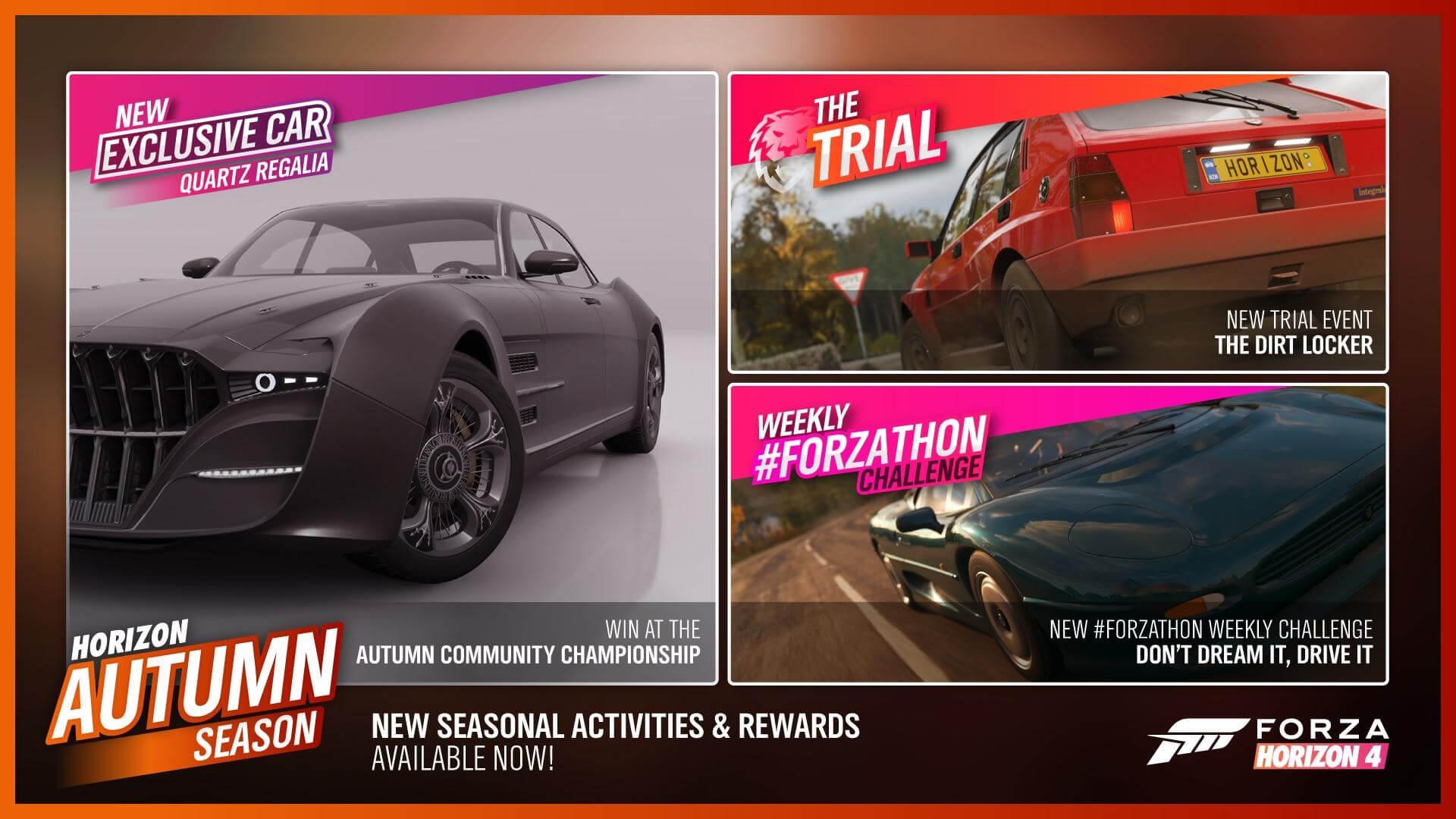 Forza horizon 4 car mastery forza edition cars