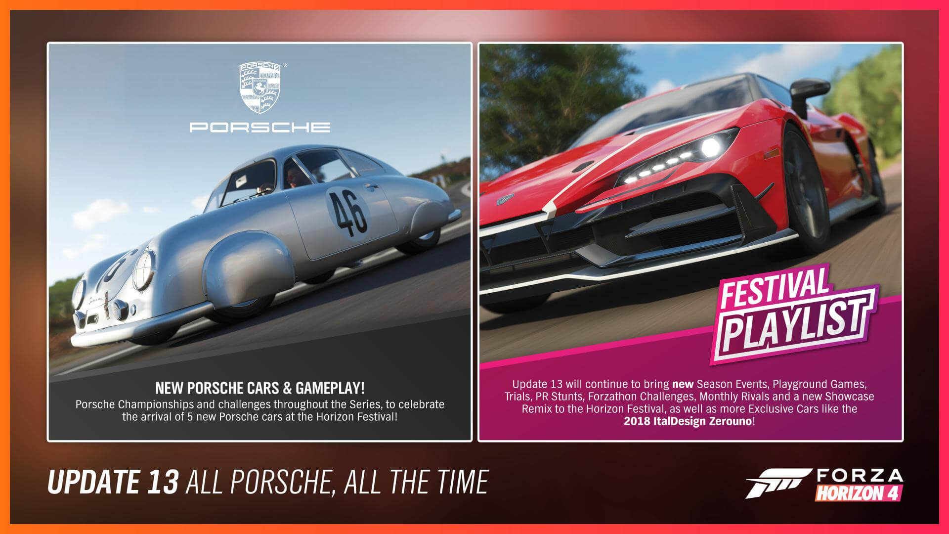 Forza Horizon 4 Series 13 Pays Homage to Porsche