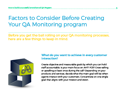 Factors to consider before creating your quality monitoring program