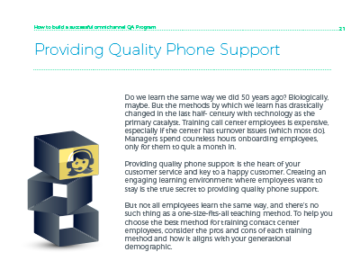 providing quality phone support