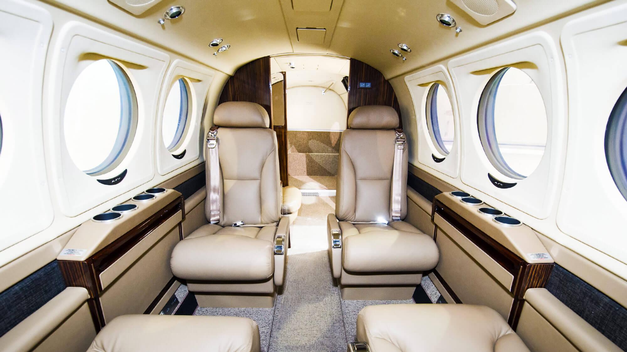 Interior of the Beechcraft King Air