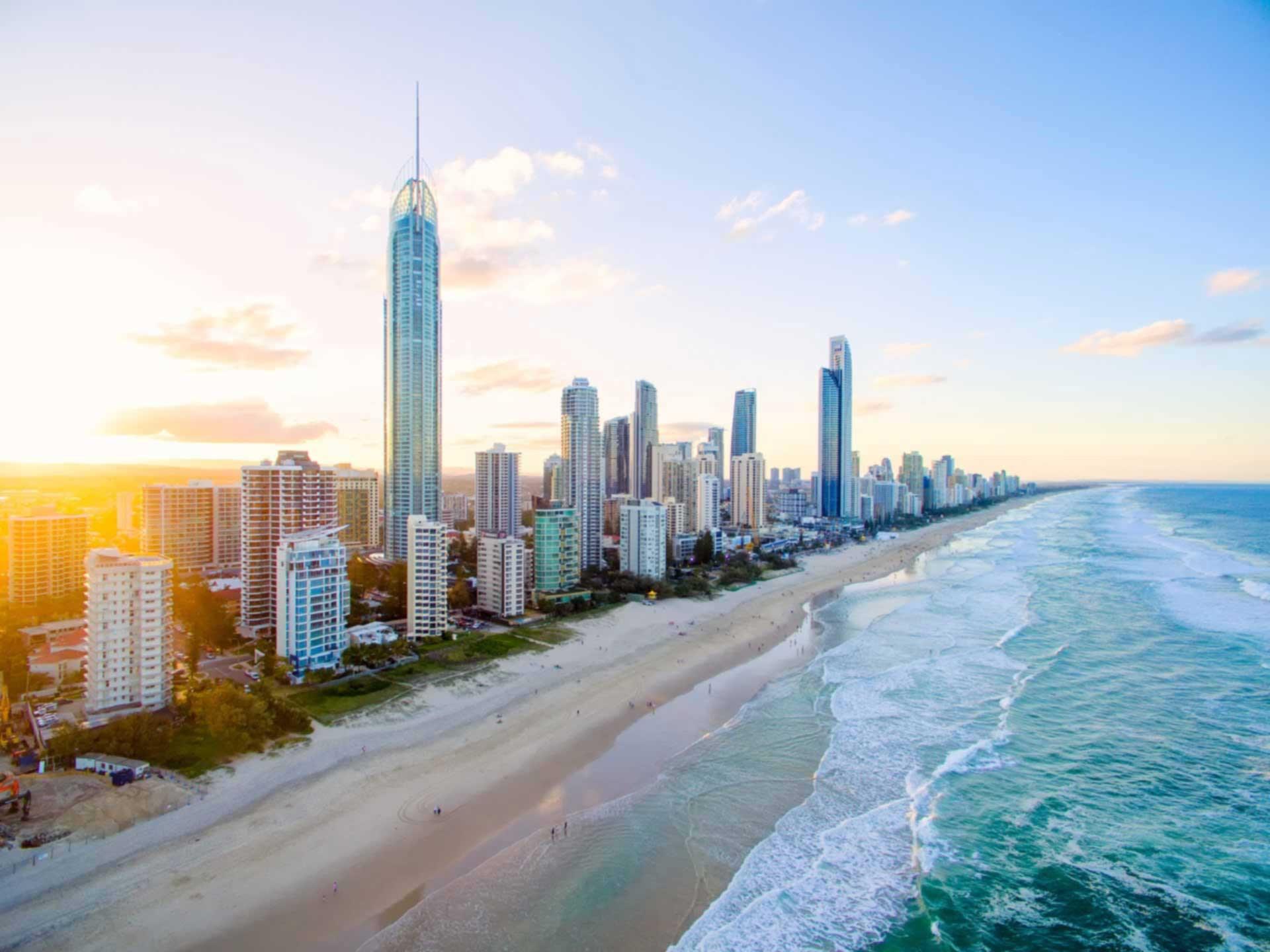 The Gold Coast Skyline from yesterdays sunrise : australia