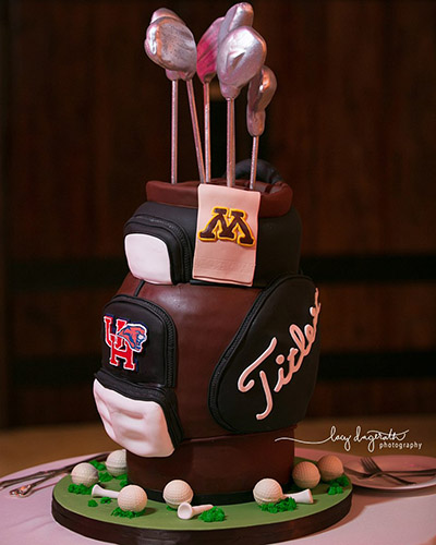 University of Houston GolfBag Groom's Cake