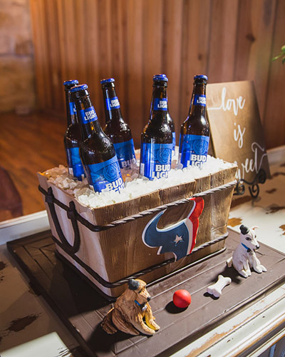 Bud Light Houston Texans Groom's Cake