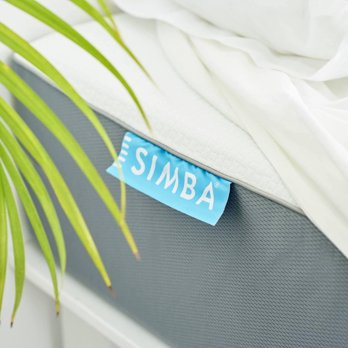 Close up of Simba mattress label