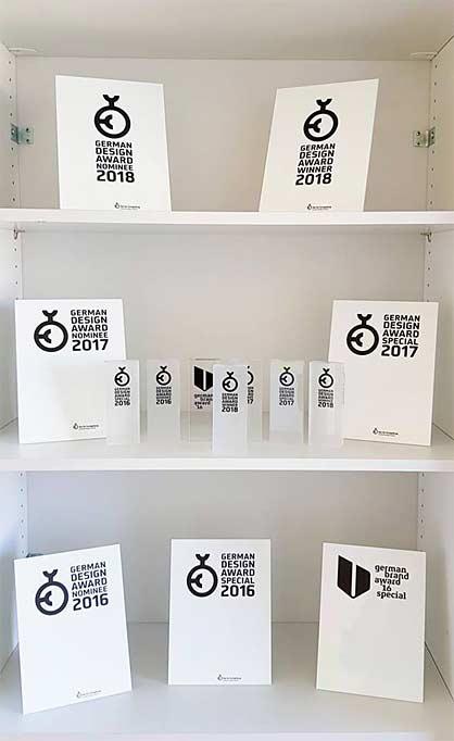 Die Hall-Of-Fame mit allen Awards mit welche ideenhunger ausgezeichnet wurde