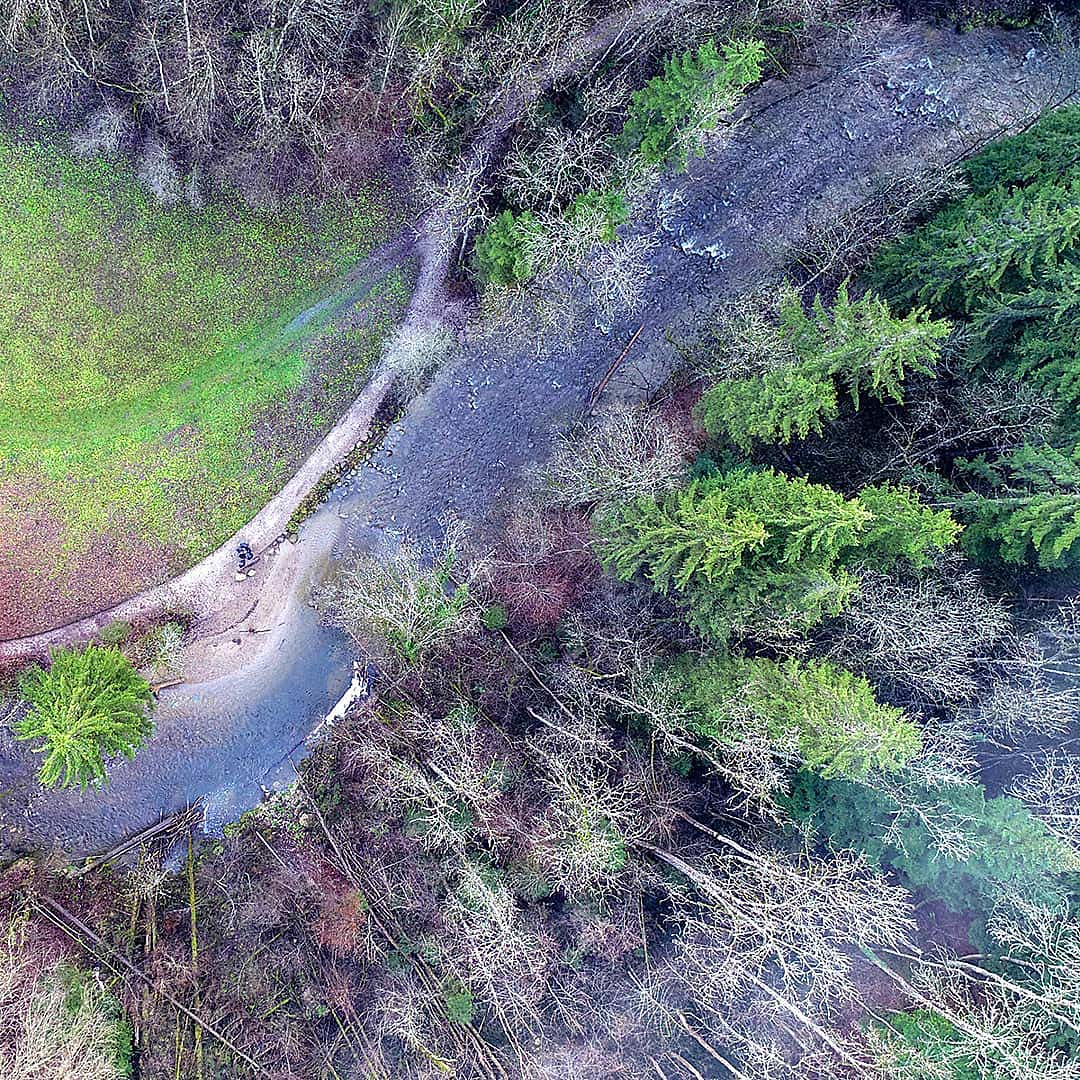 Aufnahme mit unserer Drohne im Allgäu in der nähe vom Center Parcs